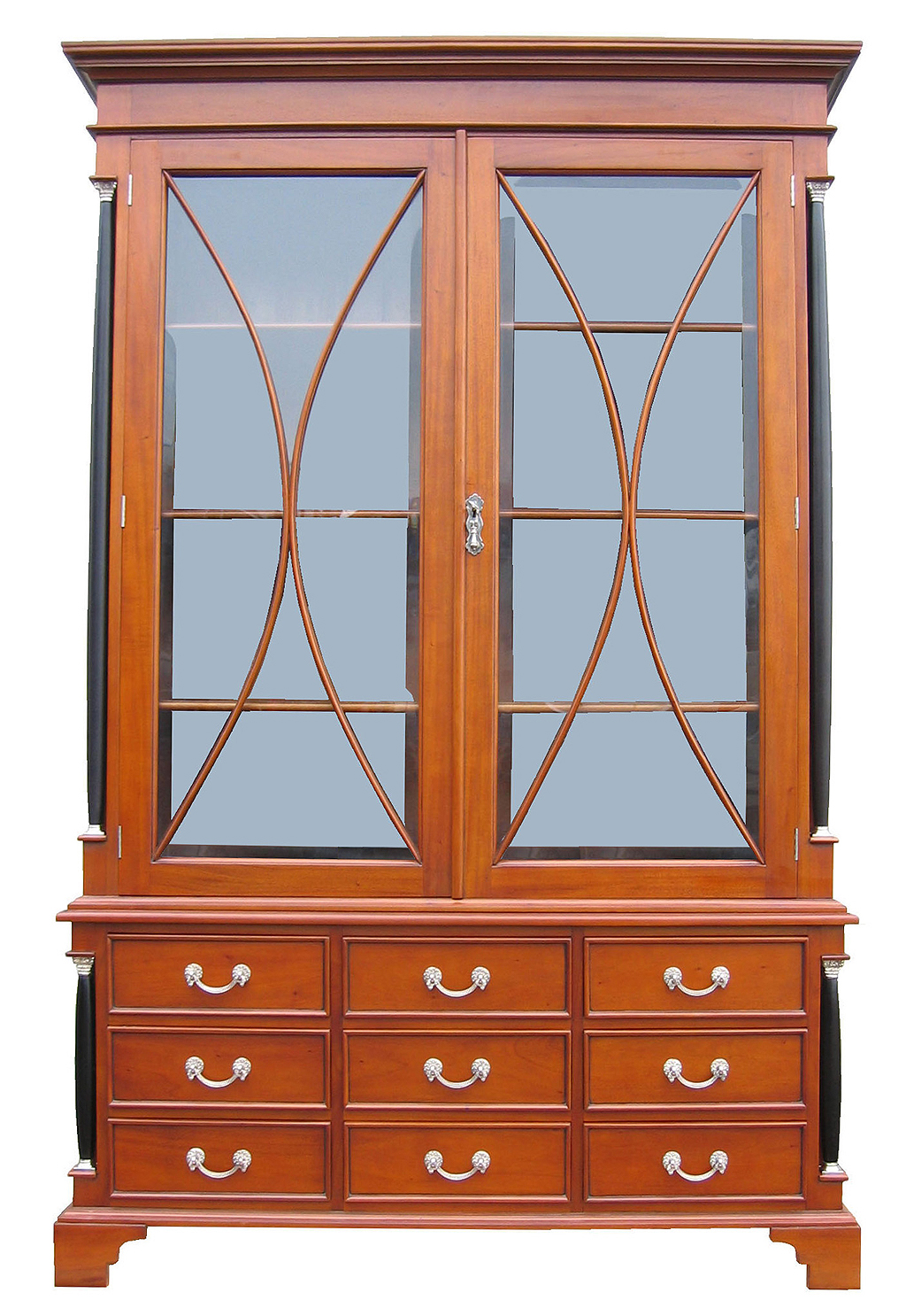 biedermeier vitrine b cherschrank antik kirsche m bel. Black Bedroom Furniture Sets. Home Design Ideas