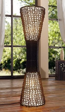 Biedermeier Lampe Stehlampe antik Säule bauchige Form Komplettansicht