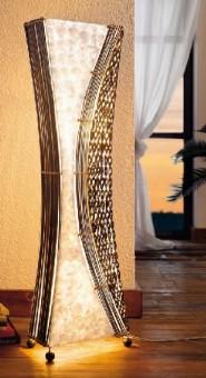 Biedermeier Lampe massiv antik Halbmond geschwungene Form in Komplettansicht
