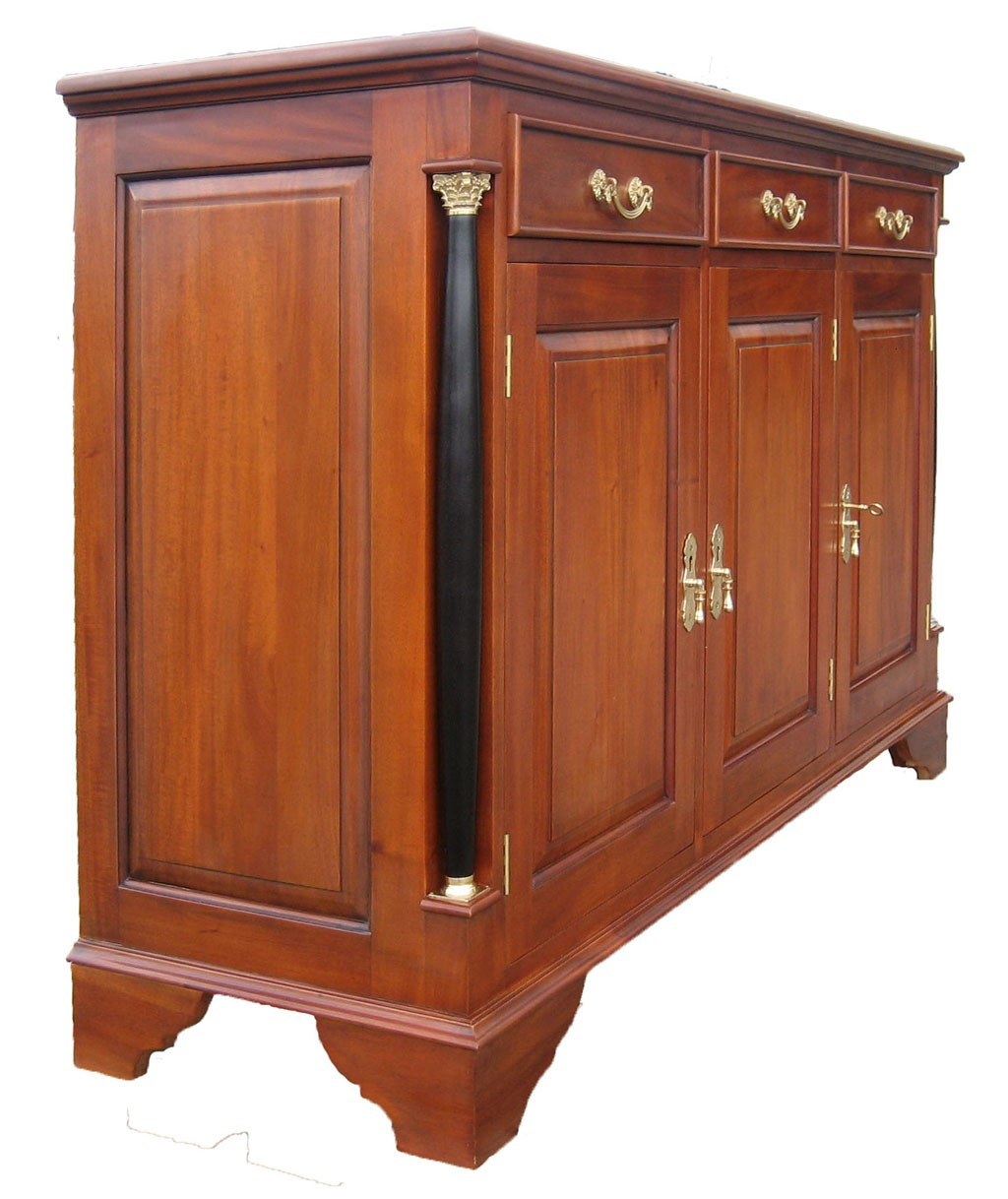 sideboard biedermeier antik anrichte stil kirsche massiv. Black Bedroom Furniture Sets. Home Design Ideas