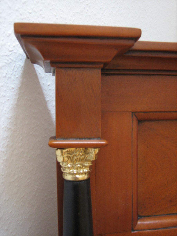 Biedermeier Spiegel Kirsche Massiv Stil Antik
