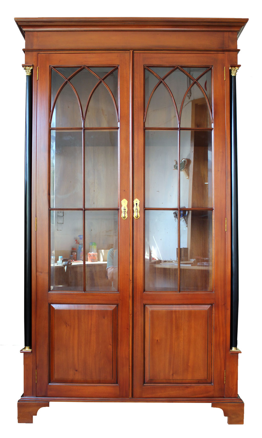 biedermeier vitrine antik massiv in stil kirsche. Black Bedroom Furniture Sets. Home Design Ideas