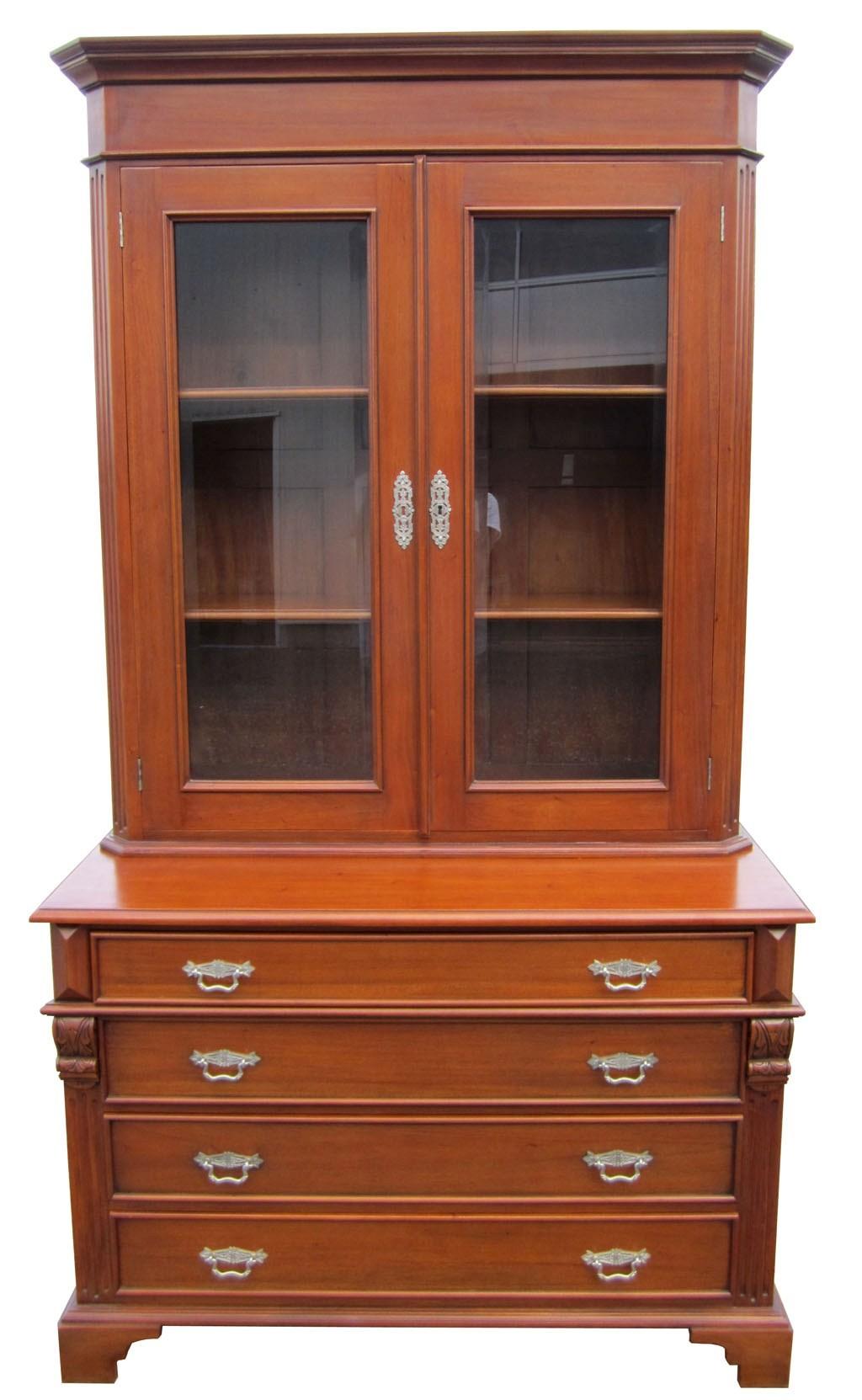 Gr nderzeit vitrine buffet antik kirsche massiv m bel for Sideboard kirschbaum