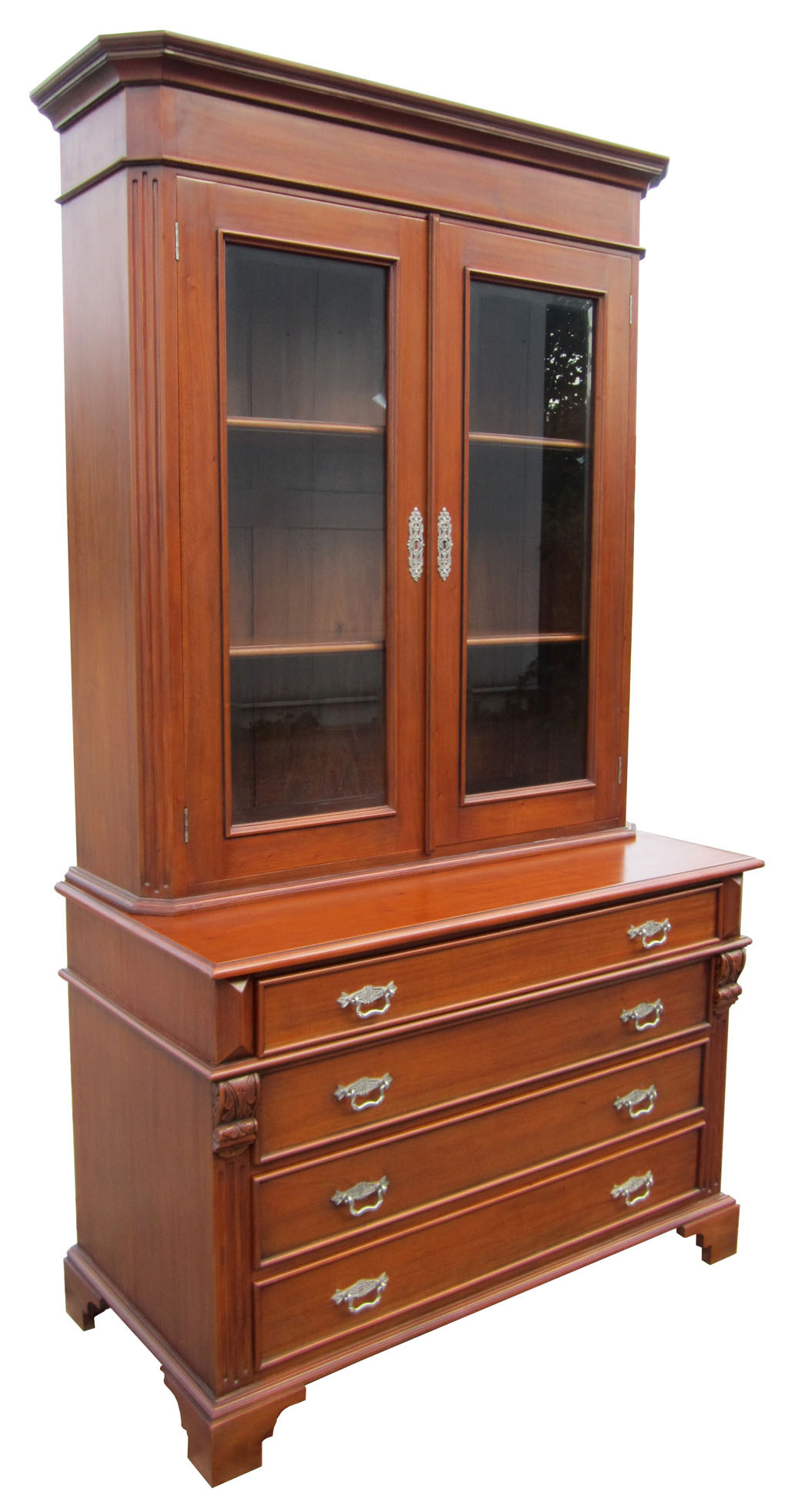biedermeier b cherschrank antik stil kirsche massiv. Black Bedroom Furniture Sets. Home Design Ideas