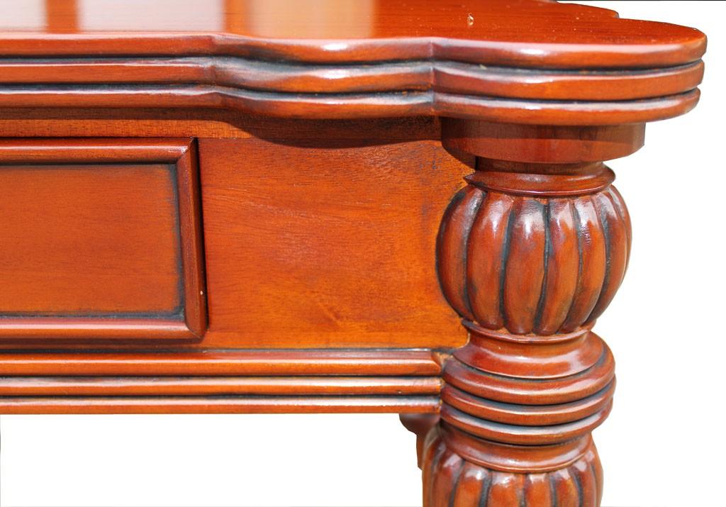 Kirschbaum Couchtisch Biedermeier Antik Detail Antikisierung TV Tisch Wohnzimmertisch Seitenansicht
