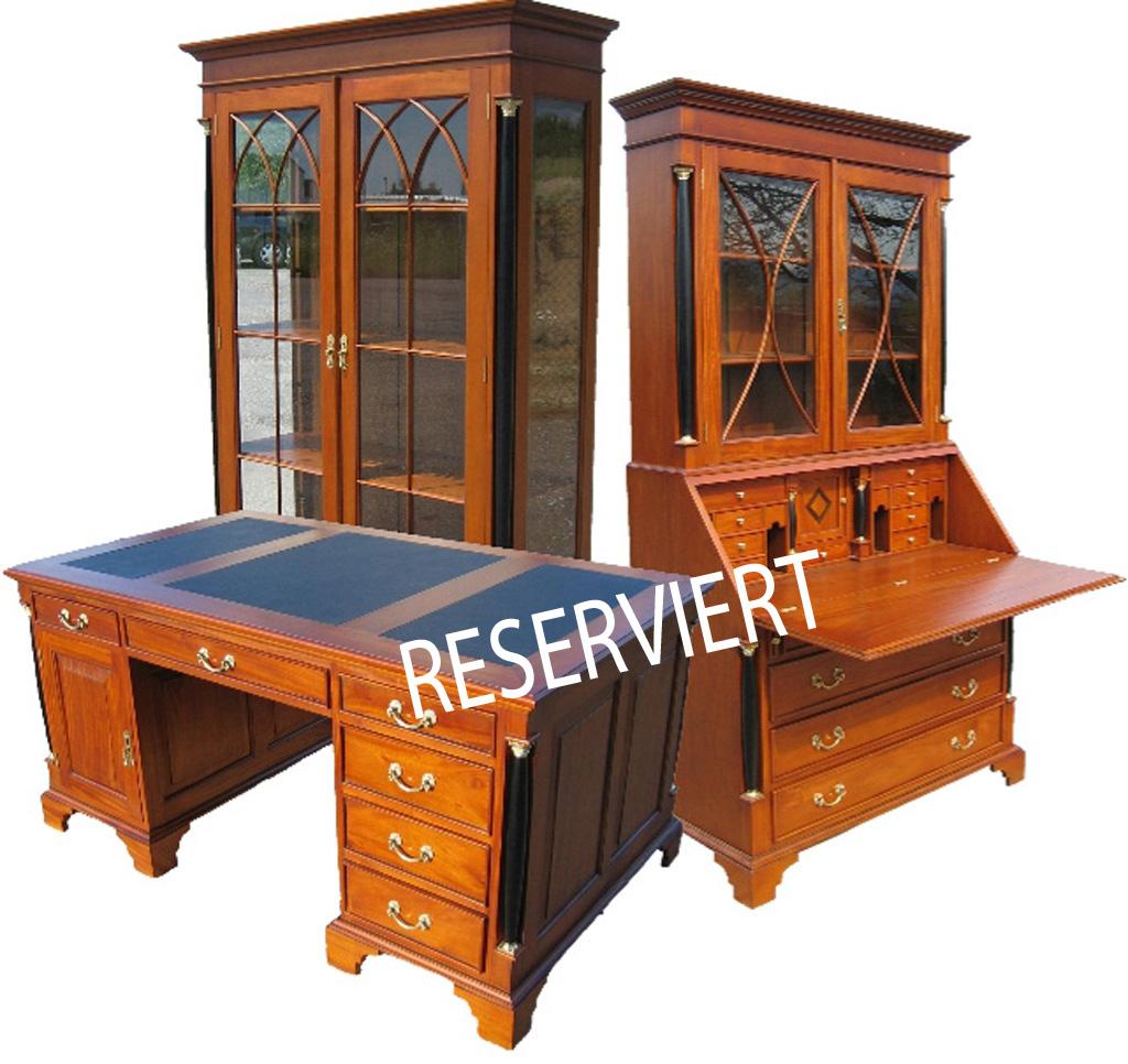reduziert biedermeier schreibtisch antik stil kirsche m bel. Black Bedroom Furniture Sets. Home Design Ideas
