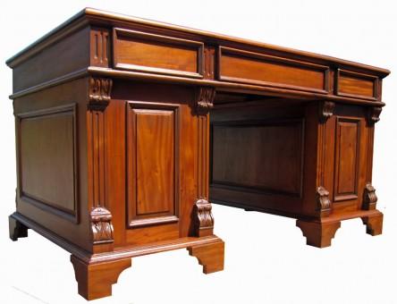 Schreibtisch Gründerzeit antik Rückansicht