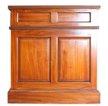 Schreibtisch antik in eglischem Stil Seitenasicht Detail