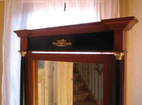 Spiegel Biedermeier antik Detail oben