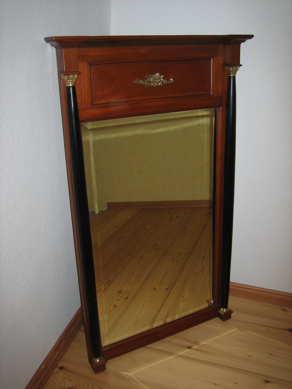 biedermeier spiegel kirsche massiv stil antik. Black Bedroom Furniture Sets. Home Design Ideas