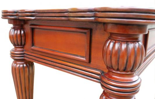 TV Tisch Wohnzimmertisch Biedermeier antik Seitenansicht