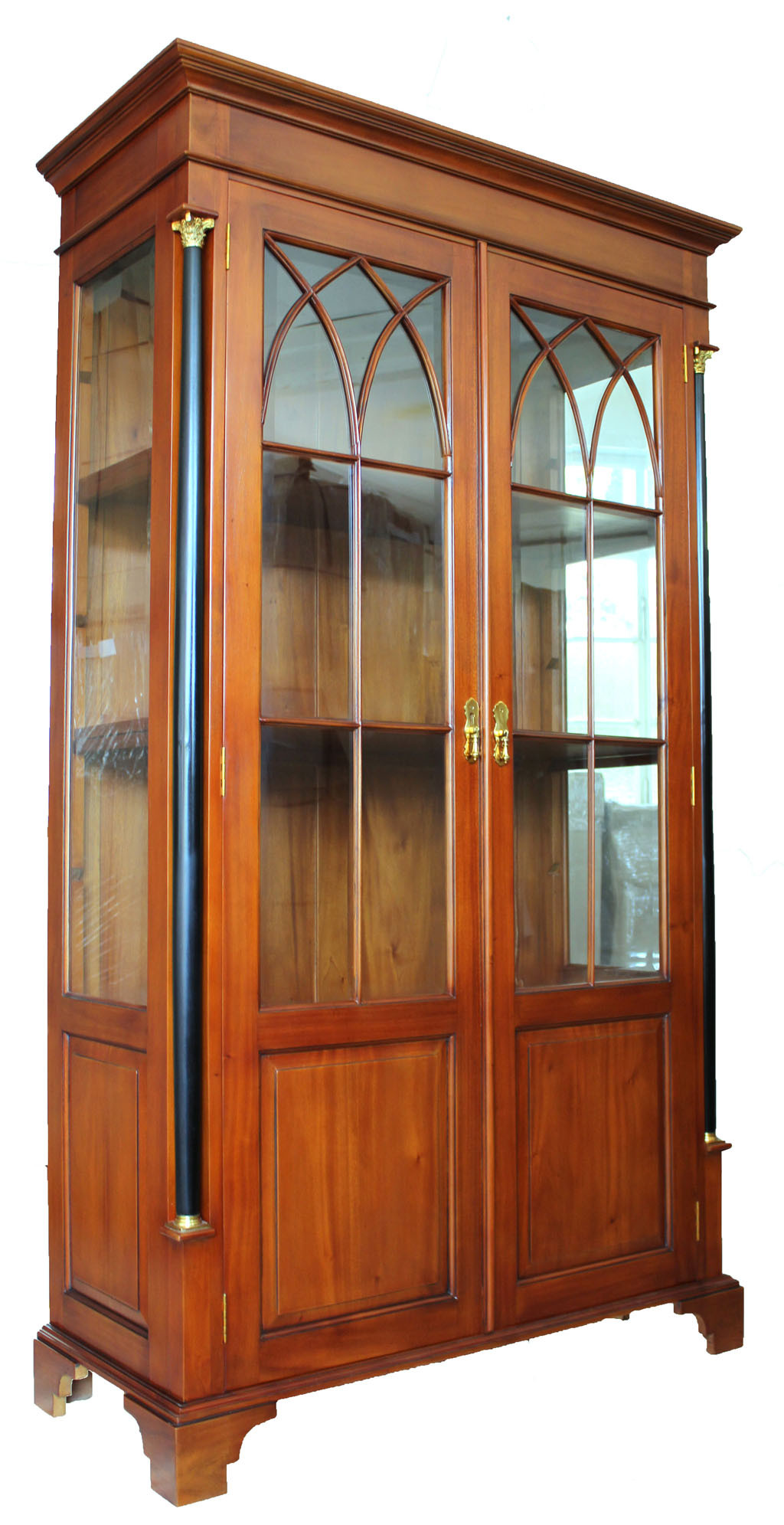 vitrine biedermeier kirsche massiv holz. Black Bedroom Furniture Sets. Home Design Ideas