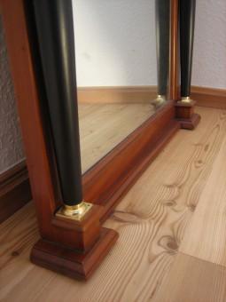 antik Spiegel Biedermeier Einfassung Spiegelglas