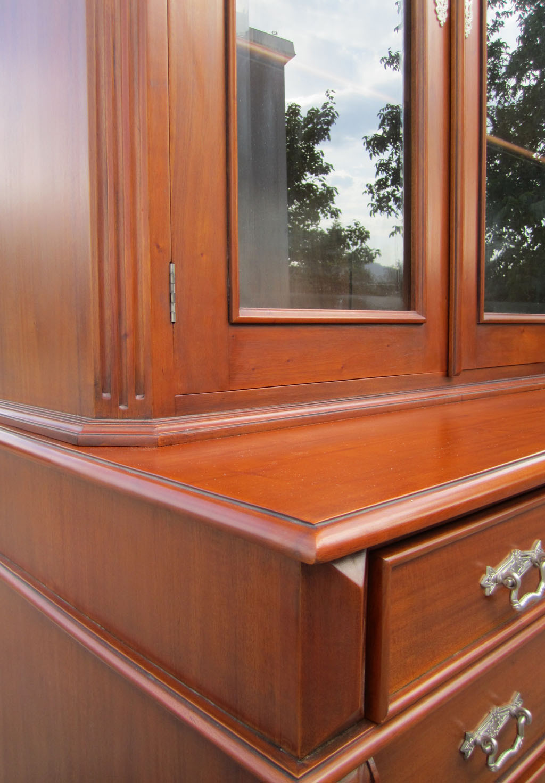 gr nderzeit vitrine buffet antik kirsche massiv m bel. Black Bedroom Furniture Sets. Home Design Ideas
