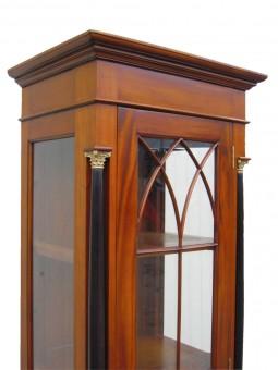 antik Biedermeier Vitrine Sprosse und Glas