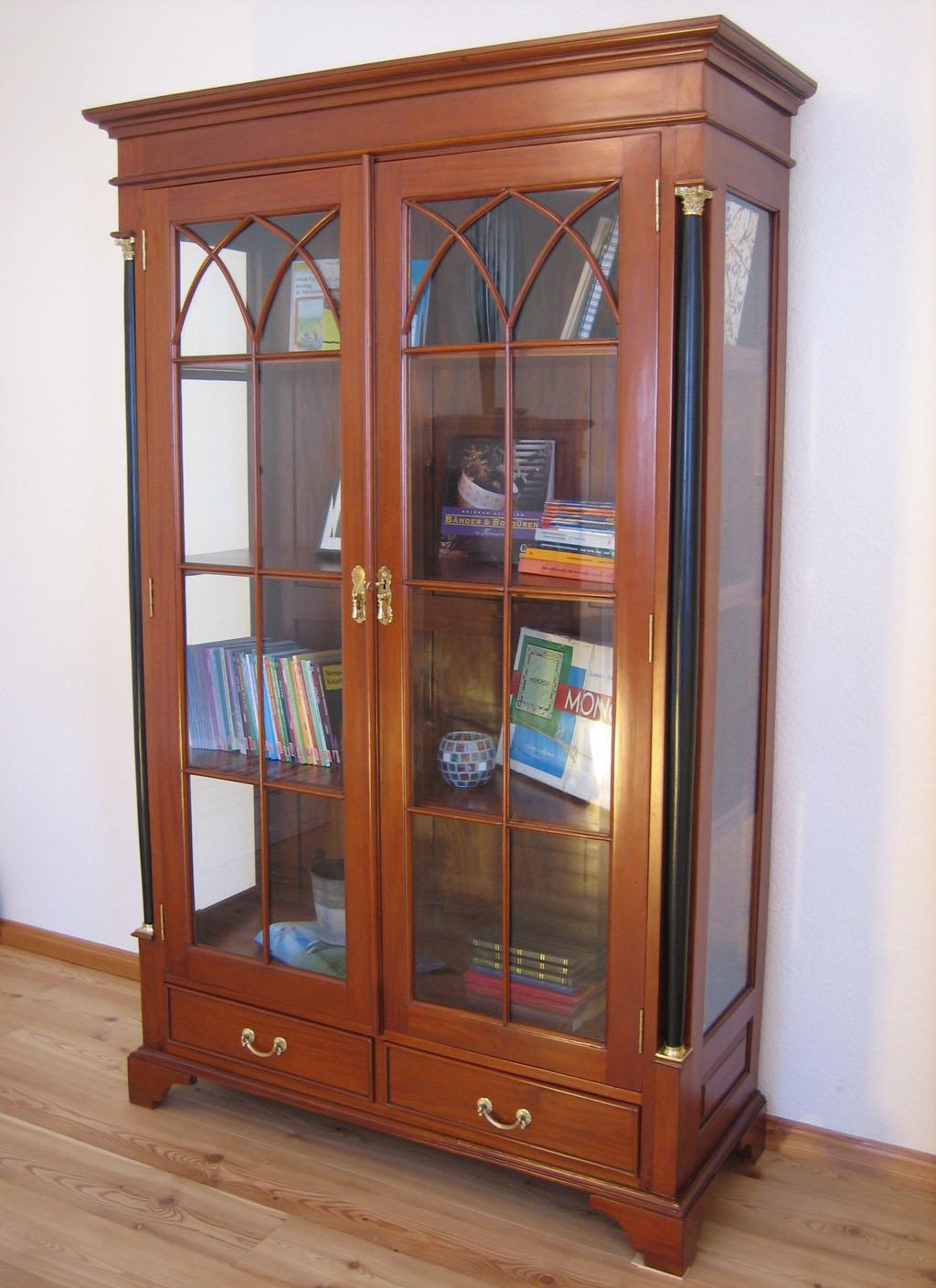 antik vitrine biedermeier kirsche m bel massiv. Black Bedroom Furniture Sets. Home Design Ideas