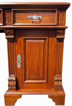 Biedermeier antik Gründerzeit Schreibtisch Tür und Applikation