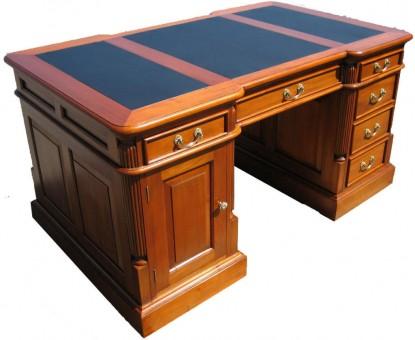 Schreibtisch Biedermeier Kirsche antik von oben rechts