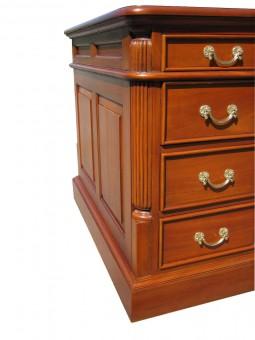 Biedermeier Schreibtisch Kasstten Säulen und Schubladen