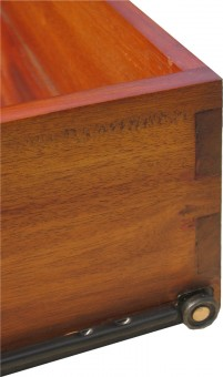 Biedermeier Schublade massiv Detail