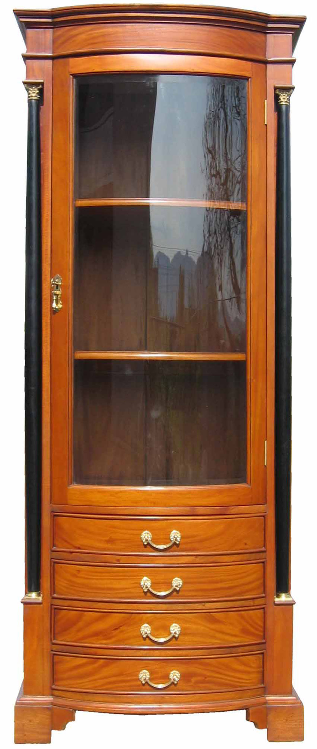 vitrine biedermeier antik m bel kirsche massiv. Black Bedroom Furniture Sets. Home Design Ideas