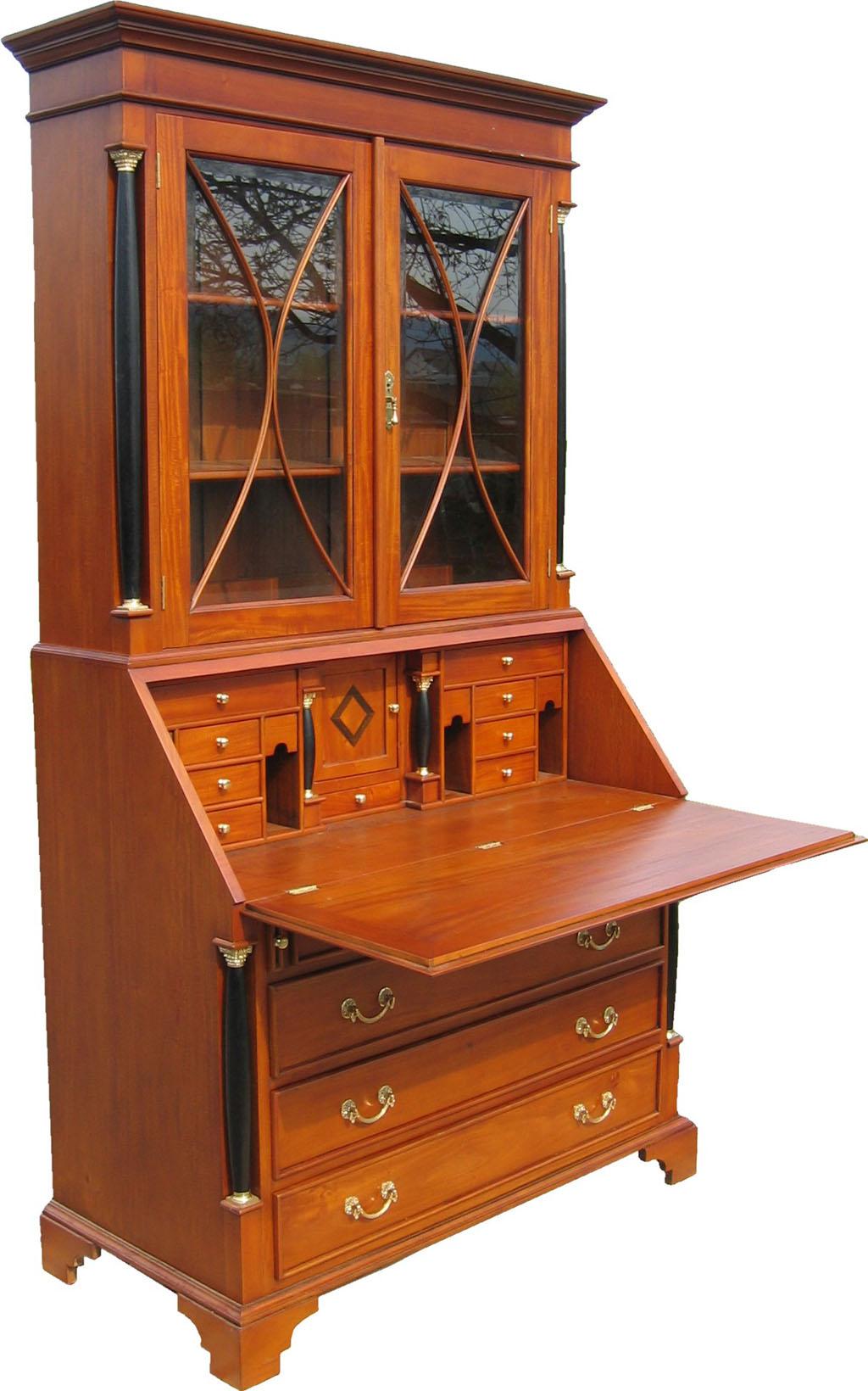 Biedermeier Möbel Antik Schreibtisch Vitrine Kommode
