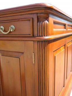Schreibtisch Biedermeier mit Detail kannelierte Säule