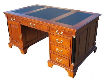 Schreibtisch Kirschbaum Biedermeier antik Gesamtansicht