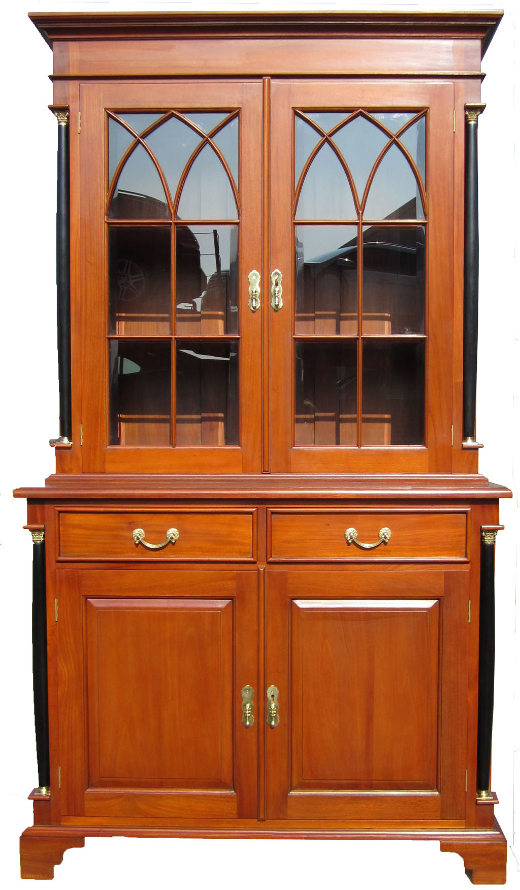 biedermeier buffet vitrine b cherschrank antik kirsche. Black Bedroom Furniture Sets. Home Design Ideas