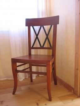 Biedermeier Stuhl antik Gesamtansicht