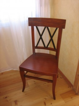 Biedermeier Stuhl Draufsicht