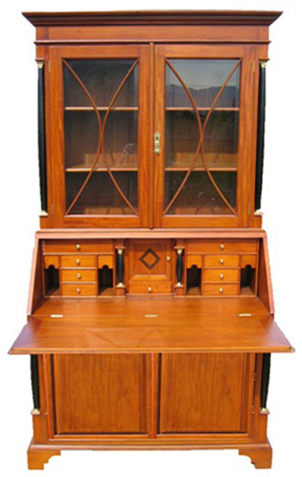 biedermeier sekret r b ro kirsche antik massiv m bel. Black Bedroom Furniture Sets. Home Design Ideas