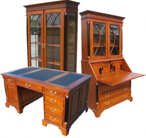Biedermeier Schreibtisch Vitrine Sekretär alle Möbel komplett