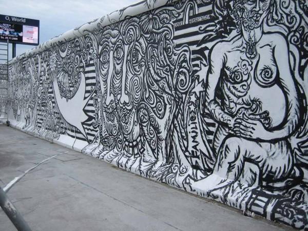 Berliner Mauer Kunst an der East Side gallery
