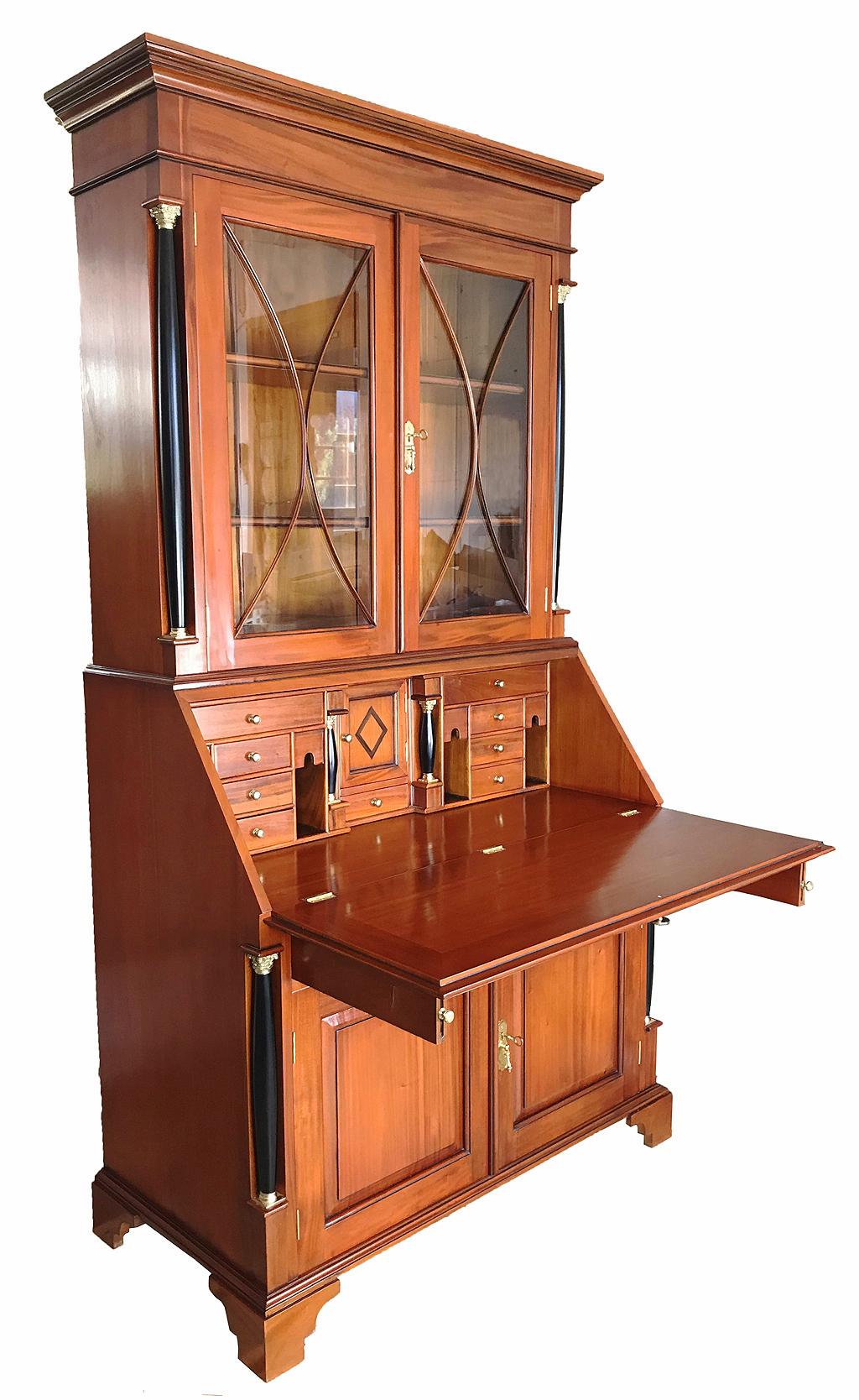 biedermeier sekret r b ro kirsche antik massiv m bel. Black Bedroom Furniture Sets. Home Design Ideas